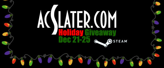 acslater holiday giveaway steam video games free