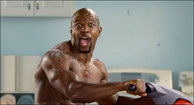 terry crews old spice power jet ski