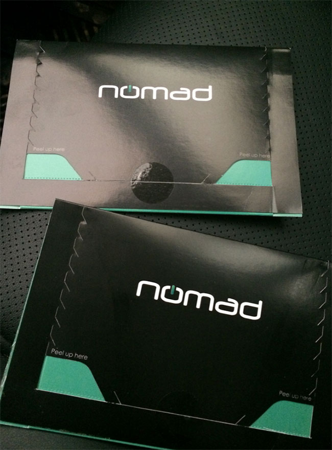 nomad chargekey chargecard packaging