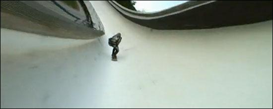 skateboard down bobslet
