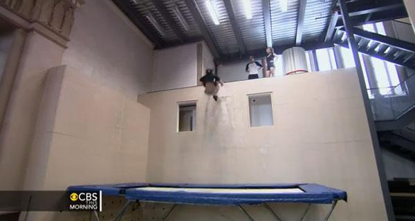 wall trampoline