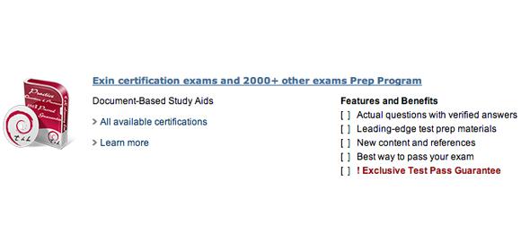 exin certification test