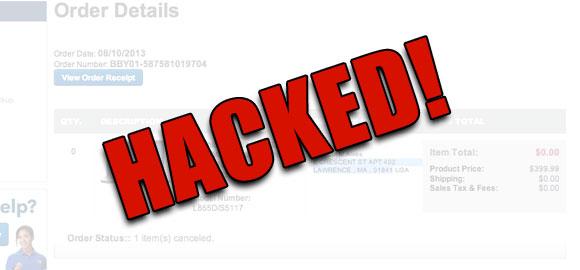 best buy account hacked